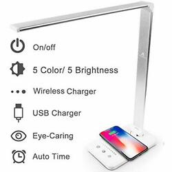 LED Desk Lamps for Home Touch Control Desktop Lamp with Wireless Charger USB 5 $43.99