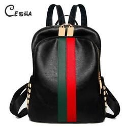 Luxury Designer Women Travel Backpack High Quality Soft PU Leather Women Backpac