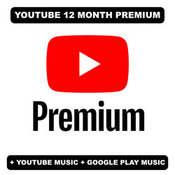 YOUTUBE 12 months Premium NEW or UPGRADE READ DESCRIPTION $19.99