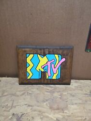 MTV Routed Painted And Stained Hanging Sign $15.00