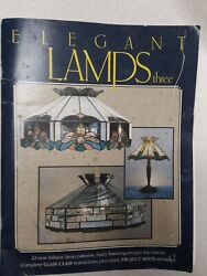 Elegant Lamps Three 22 Lamp Patterns Panel Glass Instructions Projects HINTS $20.00