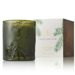 Thymes Frasier Fir Green Glass Candle NEW $22.50