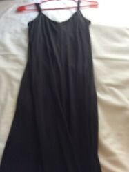 Womans Black Long Maxi Dress Sleeveless Size Large New Without Tags $24.50