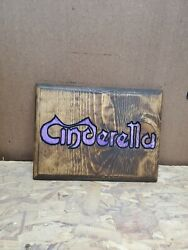 Cinderella Band Routed Painted And Stained Hanging Sign $15.00