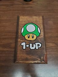 1 Up Mushroom Routed Painted And Stained Hanging Sign $12.50