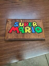Super Mario Routed Painted And Stained Hanging Sign $12.50