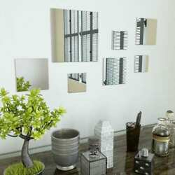 7 Piece Wall Mirror Set Square Glass $30.56