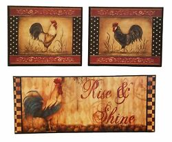 Rise and Shine Rooster 3 Piece Wall Decor Set $28.00