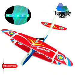 Electric Plane LED EPF Airplane Throwing Glider Aircraft Model Outdoor Kids Toy $6.99
