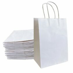 8quot;x4.25quot;x10.5quot; Kraft Paper Bags Gift Bag with Handles for Wedding Party Shopping $24.43