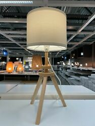 Ikea LAUTERS Table lamp natural ash white NEW $57.99