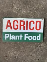 Vintage AGRICO PLANT FOOD Sign ADVERTISING FARM AGRICULTURE Garden Seed Sign $42.00