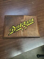 Dokken Routed Painted And Stained Hanging Sign $15.00