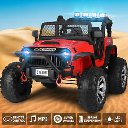12V Electric Jeep Kids Ride on Truck Car Toy Auto Return Spring Suspension RedRC $259.99