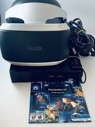 Sony PlayStation VR PS4 Virtual Reality Headset CUH ZVR2 Bundle W Game $219.99