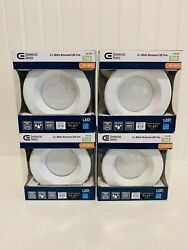Lot of 4 Commercial Electric 4quot; Soft White LED Light T40 3000k Recessed Trim