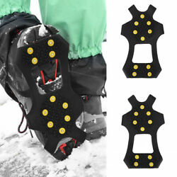 Ice Snow Grips Spikes Crampon Grippers Cleats for Shoes Boots Overshoe Anti Slip $10.49