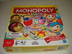 2011 Monopoly Junior Party Edition The Fast Dealing Property Trading Board Game $14.99