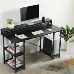 Modern Gaming Desk 55quot; Large Computer Desk PC Laptop Table Studying Writing Desk $115.99