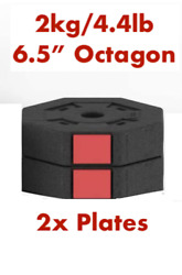 2x 4.4lb Replacement Weight Plate fit Octagon Wolfyok SogesPower 1quot; Dumbbell set $20.00