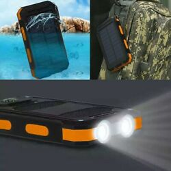 2021 Waterproof Solar Power Bank 900000mAh Portable External Battery Charger US $22.99