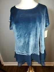 NEW Sejour Sleeveless Blue Wing Size 2X Plus Nordstrom $69 $15.00