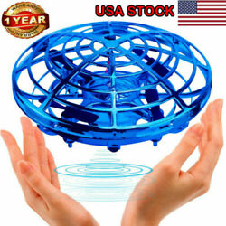 Mini Drone Induction Levitation Hand Operated UFO Toy Flying Ball For Kids Blue $19.99