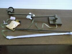 A Pair of Remington Lighting Bronze Swing Arm Wall Lamps NOS $29.97