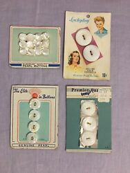 Carved Mother Of Pearl Button Cards. Vintage Antique With Beautful Graphics $14.00