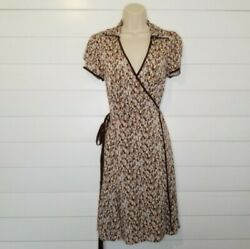 BCBG Max Azria Collared Wrap Dress Party evening cocktail wear $25.00