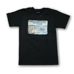 Nickelodeon Spongebob Men#x27;s Black Short Sleeve T Shirt $14.99