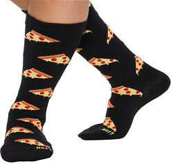 LISH Pizza Print Wide Calf Knee High Plus Size Support Compression Socks $6.99