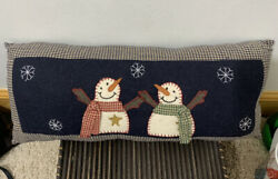 "Pillows Country Primitive rustic decorations winter snowman pillows 16"" Long $16.99"