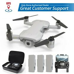 Holy Stone HS510 GPS Drone 4K Wifi Camera Quadcopter Brushless 3 Batteries Case $189.99