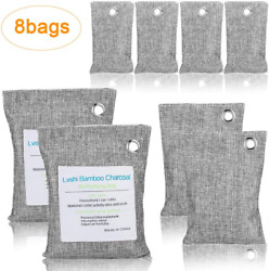Air Purifying Bag Purifier Nature Fresh Charcoal Odor Mold Freshener 8 Bags US $12.90