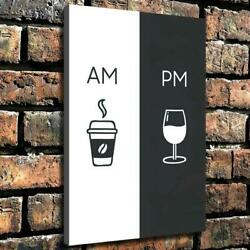 Coffee and wine art photos HD Canvas printed Home decor painting Wall art poster $4.99