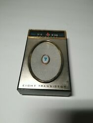 Truetone Eight Transistor Radio. Antique with leather carry case. OLD. $39.40