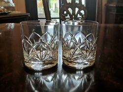 Pair Crystal Tumblers 3 5 8quot; Cut Arches 1020cat $22.99