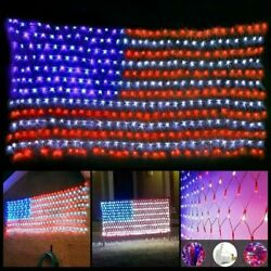 USA American Flag LED String Lights Outdoor Lights Waterproof Hanging Ornaments