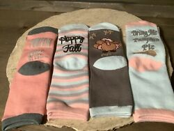 THANKSGIVING NOVELTY SOCKS SET OF 4 ASSORTED GREAT FUN NEW $11.99