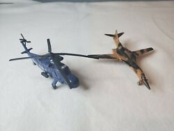 vintage ZEE diecast airplanes B 1 bomber and YSH 2E helicopter $20.00