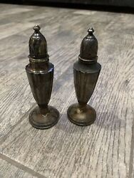 """Pair Of Vintage NS Co Sterling Silver 5.75"""" Salt And Pepper Shakers $59.99"""