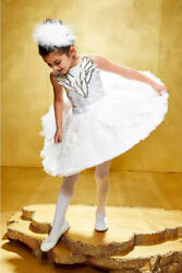 Chasing Fireflies Girls White Swan Ballerina Costume Size 10 New $40.00