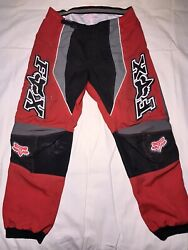 Honda Fox Racing Pants Size Adult 36 Motocross Black And Red Fox 360 $30.00
