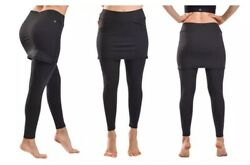 Clanec Womens Stretchy High Waist Skirted Leggings With Pockets $19.99