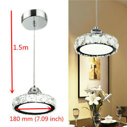 LED Pendant Modern Crystal Chandelier Glass Hanging Lamp Ceiling Light Fixture $35.00