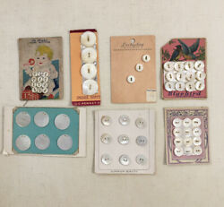 Carved Mother Of Pearl Button Cards. Vintage Antique With Beautful Graphics $12.00