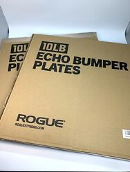 Gym Rogue Fitness Echo Bumper Plates 10lb *Pair* Black ✅ SHIPS NOW ✅ BRAND NEW $119.99