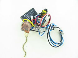#37 Used Hampton Bay Ceiling Fan Wiring Harness with Switches Capacitor Parts $32.50