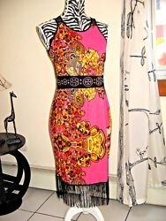 Beach Dress Multi Color Party Cover Up Nightgown Sexy Rhinestone Tassels XS SM $19.53